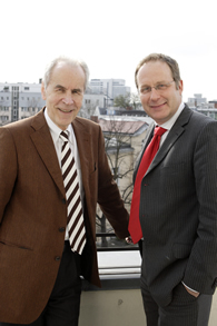 Dr. Christoph Mecking mit Prof. Dr. Christian Pfeiffer